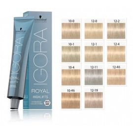 Schwarzkopf Professional Igora Royal Highlifts plaukų dažai 60 ml.