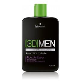 Schwarzkopf Professional 3D Mension plaukų augimą skatinantis  šampūnas vyrams 250 ml.