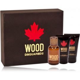 Dsquared2 Wood for Him rinkinys vyrams (50 ml. EDT + balzamas po skutimosi 50 ml. + dušo gelis 50 ml.)