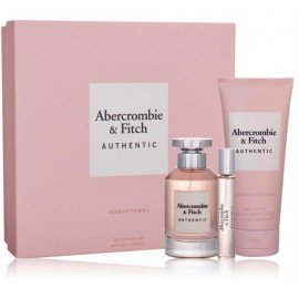 Abercrombie & Fitch Authentic Woman rinkinys moterims (100 ml. EDP + 15 ml. EDP + kūno losjonas 200 ml.)