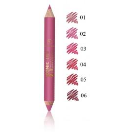Dermacol Iconic Lips 2in1 Precise lūpų dažai ir kontūro pieštukas
