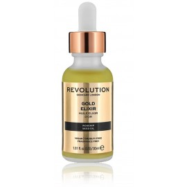 Makeup Revolution Gold Elixir maitinamasis veido aliejus 30 ml.