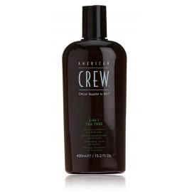 American Crew 3-IN-1 Tea Trea šampūnas/kondicionierius/kūno prausiklis vyrams 450 ml.