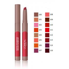 Loreal Infallible Matte Lip Crayon matinės lūpų kreidelės/dažai 2.5 g.