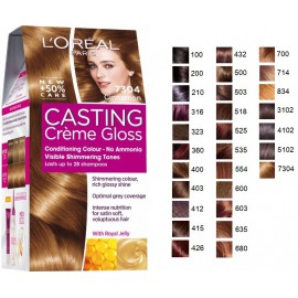 Loreal Casting Creme Gloss plaukų dažai be amoniako