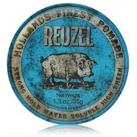 Reuzel Blue Strong Hold High Sheen Pomade formavimo pomada vyrams