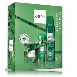 C-Thru Luminous Emerald rinkinys moterims (30 ml. EDT + 150 ml. dezodorantas + žvakė)