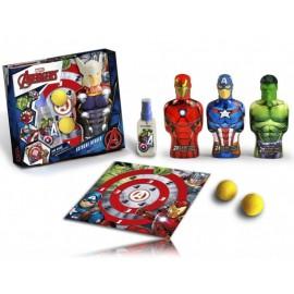 Marvel Avengers rinkinys berniukams (90 ml. EDT + 350 ml. dušo gelis + 2 vnt. lipnių kamuoliukų + taikinys)