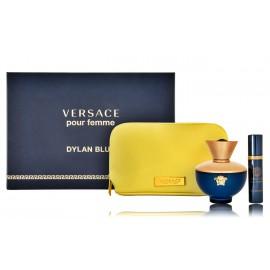 Versace pour Femme Dylan Blue rinkinys moterims (100 ml. EDP + 10 ml. EDP + kosmetinė)