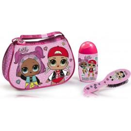 EP Line L.O.L. rinkinys mergaitėms (120 ml. dušo gelis/šampūnas + šukos)