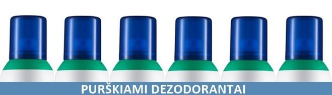 Purškiami dezodorantai